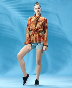 Multi Polyester Digital Printed Tunic Tops