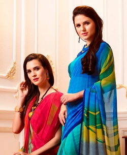 Multi Georgette Printed Regular Sarees