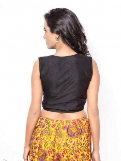 Black Bhagalpuri Silk Zardosi With Stone Work Blouses