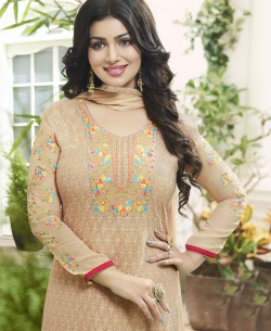 Piege Georgette Embroidery Work Salwar Suits