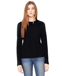 Black Knitting Plain Tunic Tops