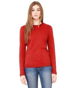Red Knitting Plain Tunic Tops