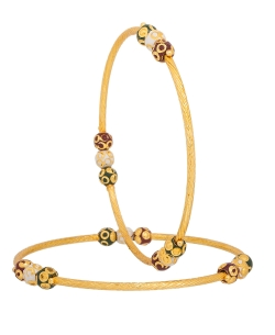 Gold Alloy Beads Bangles