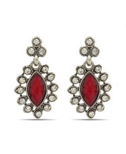 Red Non Precious Metal Stones, Crystals Drops