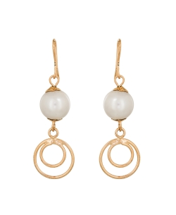 White Non Precious Metal Pearls Hoops & Hooks