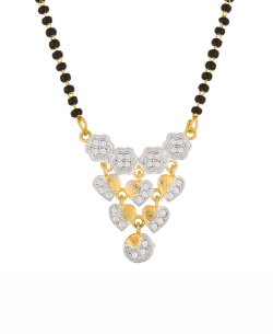 Gold Plated Stones, Crystals Mangal Sutra