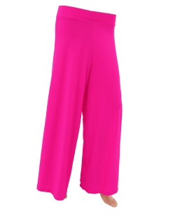 Deep Pink Cotton Blend Solid Palazzo Pants
